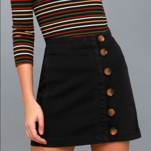 Free People Skirts - Free people black button skirt